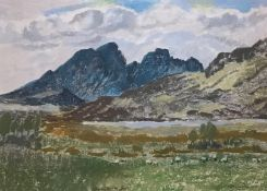 Blaven, Torrin Isle of Skye pastel by Scottish artist Mary Nicol Neill Armour LLD, R.S.A., R.S.W