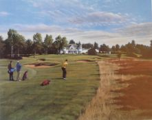 Signed artist proof The Belfry 18th golf course by Scottish artist Peter Munro