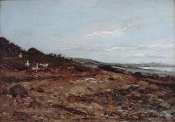 Ducks on a Foreshore original oil painting by Scottish artist Michael James Brown 1853-1947