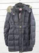 Brand new Juicy Couture size 12 black ruffle puffer jacket approx. orig RRP £150
