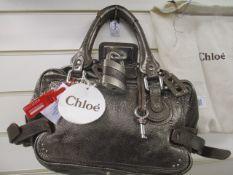 Chloe Paddington bag in aubergine