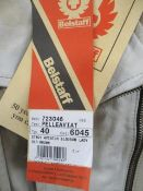 Brand new Belstaff model 923503 leather aviator blouson ladies old brown 80th anniversary jubil...