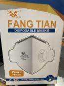 FFP3 NR Valved, Fold Flat, Face Mask, shipping carton of 20 boxes of 20pcs totaling 400pcs