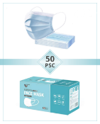 Type IIR surgical ear loop face mask, shipping carton containing 2000 pcs.