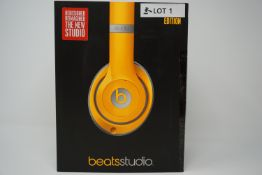 rrp £189.99 beats studio wireless over-ear headphones special edition orange