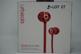 rrp £59.99 beats ur wired earphones in-ear -red