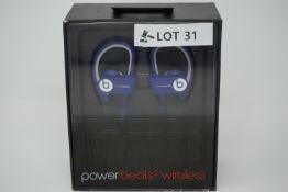 rrp £129.99 beats by dr dre powerbeats 2 wireless earphones -blue