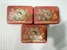 Vintage Oxo 1953 Coronation Commemorative Tins