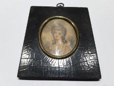 Portrait Miniature of an 18th Century Lady