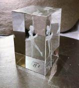 Crystal Clear Ballet Dancer Laser Art