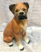 Vintage Kingston Pottery Large Boxer Dog Figurine