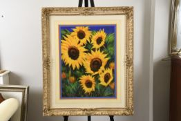 """Anthony Orme """"Sunflowers"""" Painting"""