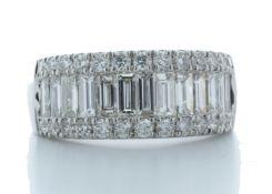 18ct White Gold Channel Set Semi Eternity Diamond Ring 2.04 Carats