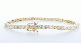 14 kt. Yellow gold - Bracelet - 3.26 ct Diamond - Diamonds