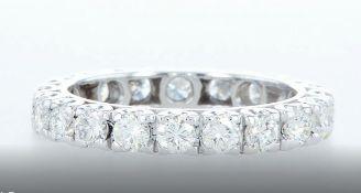 14 kt. White gold -Eternity Ring Diamond-1.81CTW