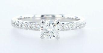 14 kt. White gold - Ring - 0.68 ct Diamond - Diamonds