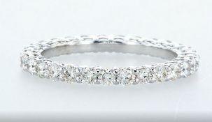 14 kt. White gold - Ring - 1.50 ct Diamond - Diamonds