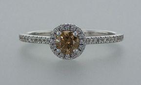 14 kt. White gold - Ring - 0.51 ct Diamond - Diamonds