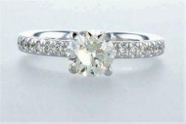 14K White gold ring 1.32CTW