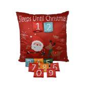12 x sleeps until christmas cushions total rrp £120