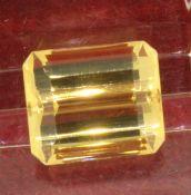 11.59ct Octagonal Citrine Loose Gemstone 12.4mm x 14.7mm