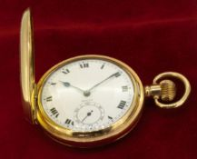 Vintage Rolex Full Hunter Pocket Watch with a Gold Plated Dennison Case