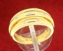 18ct 750 Yellow Gold 7 Diamond Ring