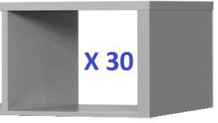 BS142 - 30 x Linea Open Shelves in Dark Grey RRP £1500