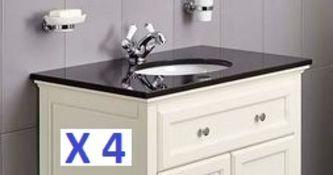 BS121 - 4 x Granite Savoy Worktops with Sinks RRP £1200
