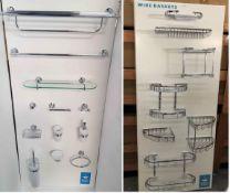 BS132 - 2 x Full Bathroom Accessory Sets RRP £1500