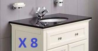 BS117 - 8 x Granite Savoy Worktops with Sinks RRP £2400