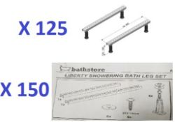BS135 - 275 x Universal Fitting Bath Leg Sets RRP £10375