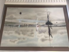 Original Painting by Jas. E. Wadsworth The Swale 1980