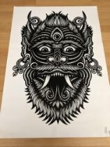TWO Tom Gilmour Limited Edition Prints, Very Rare. Archfiend & Karma In Bloom