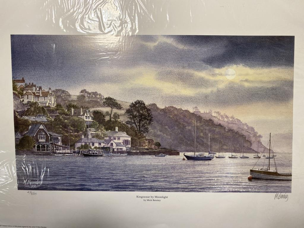Kingswear By Moonlight By Mick Bensley Signed Limited Edition Print