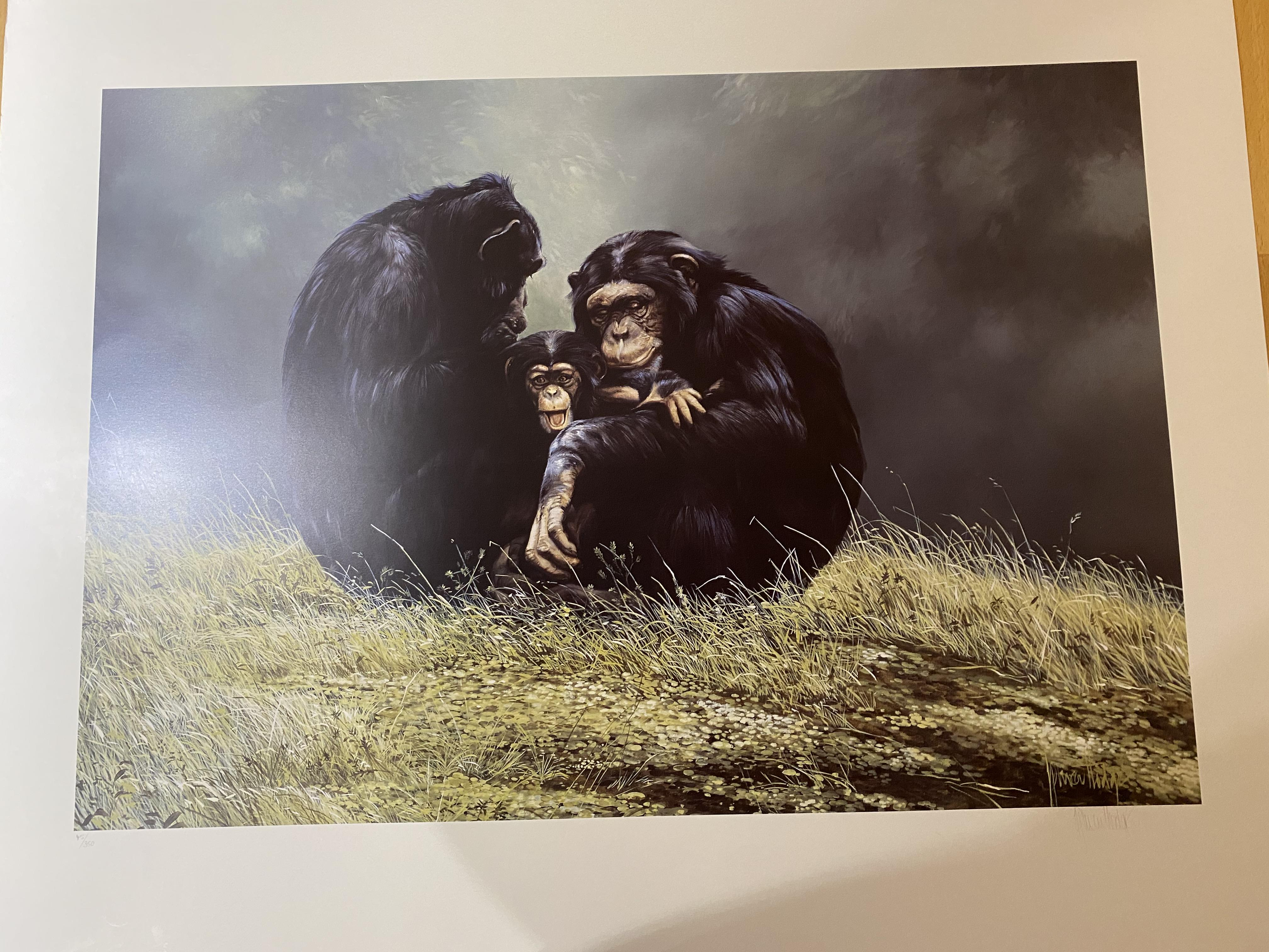 """Spencer Hodge Large Limited edition Print """"Family Portrait' ."""