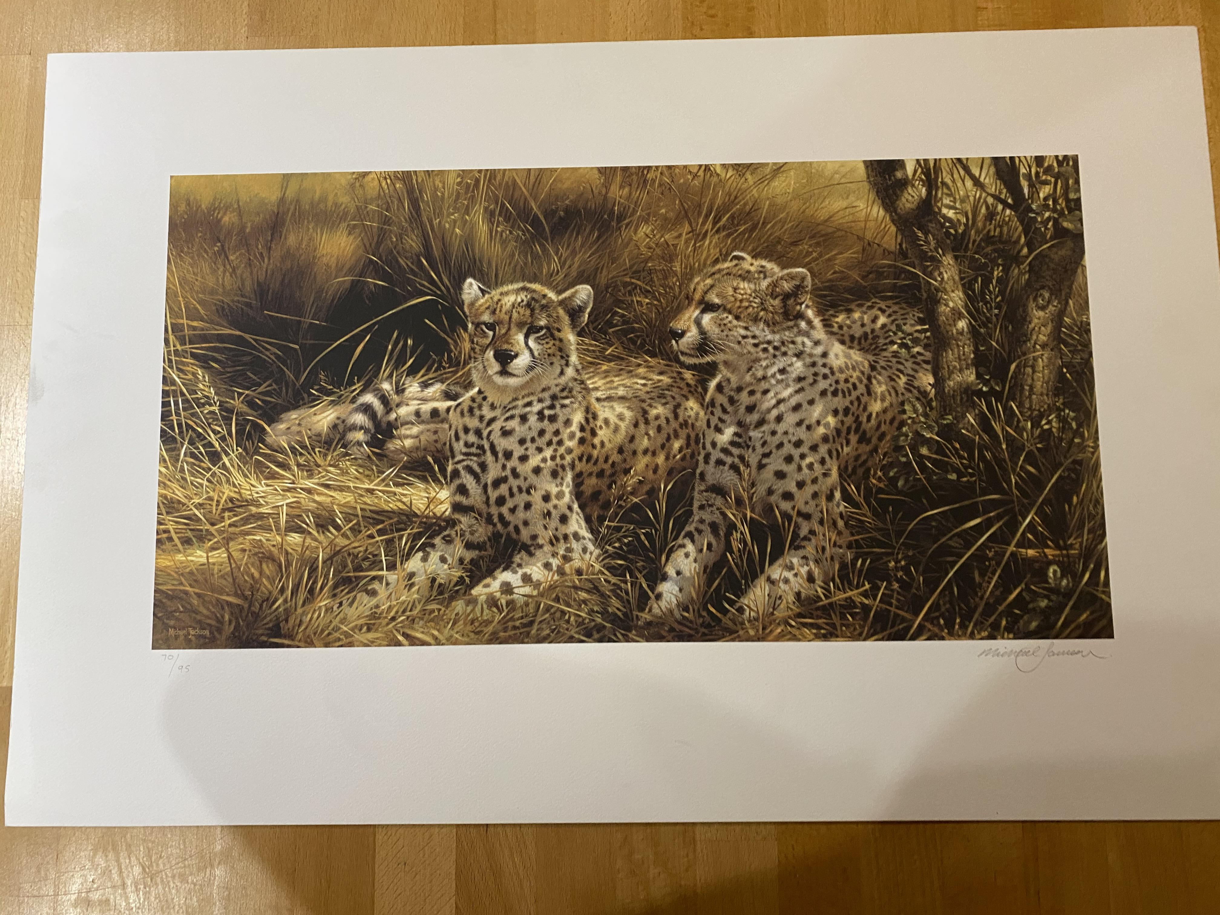 Michael Jackson Signed Limited Edition Print 'Cheetahs' With C.O.A.