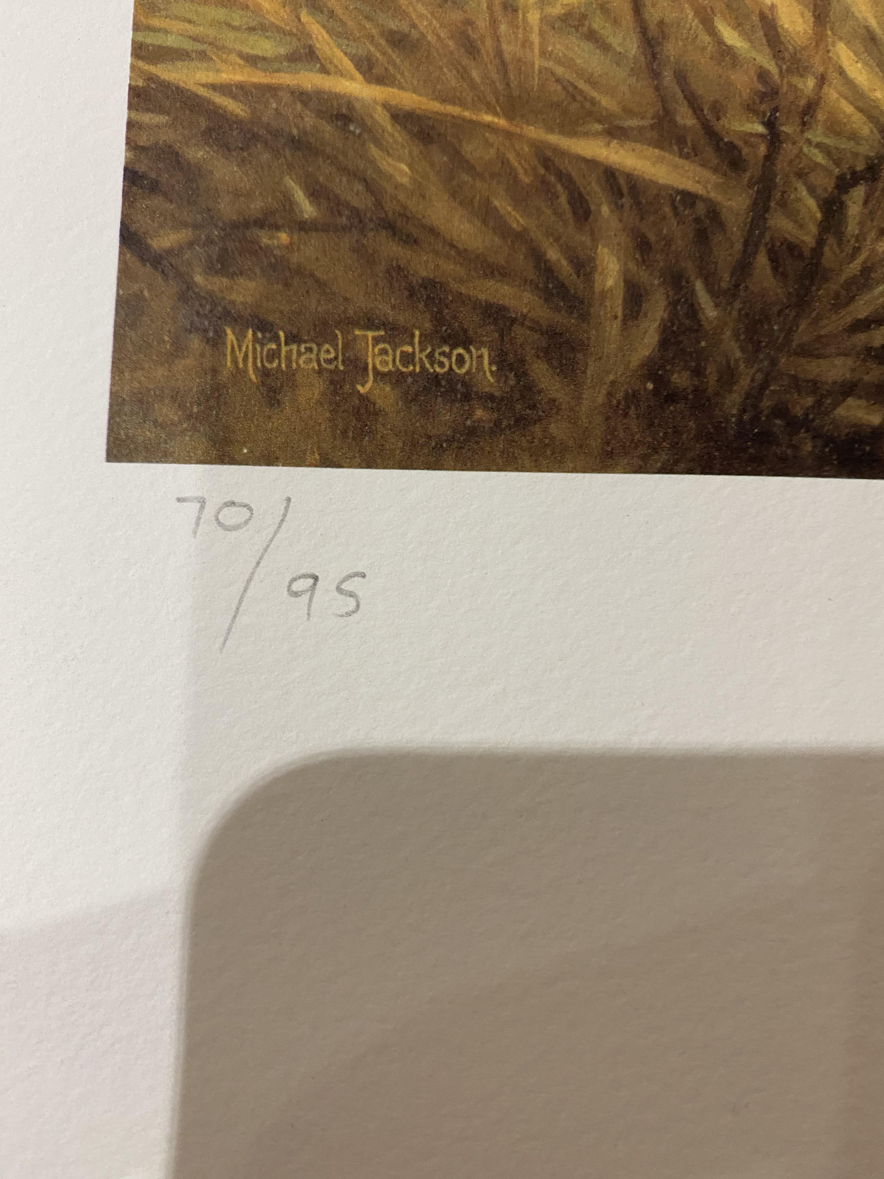 Michael Jackson Signed Limited Edition Print 'Cheetahs' With C.O.A. - Image 4 of 7