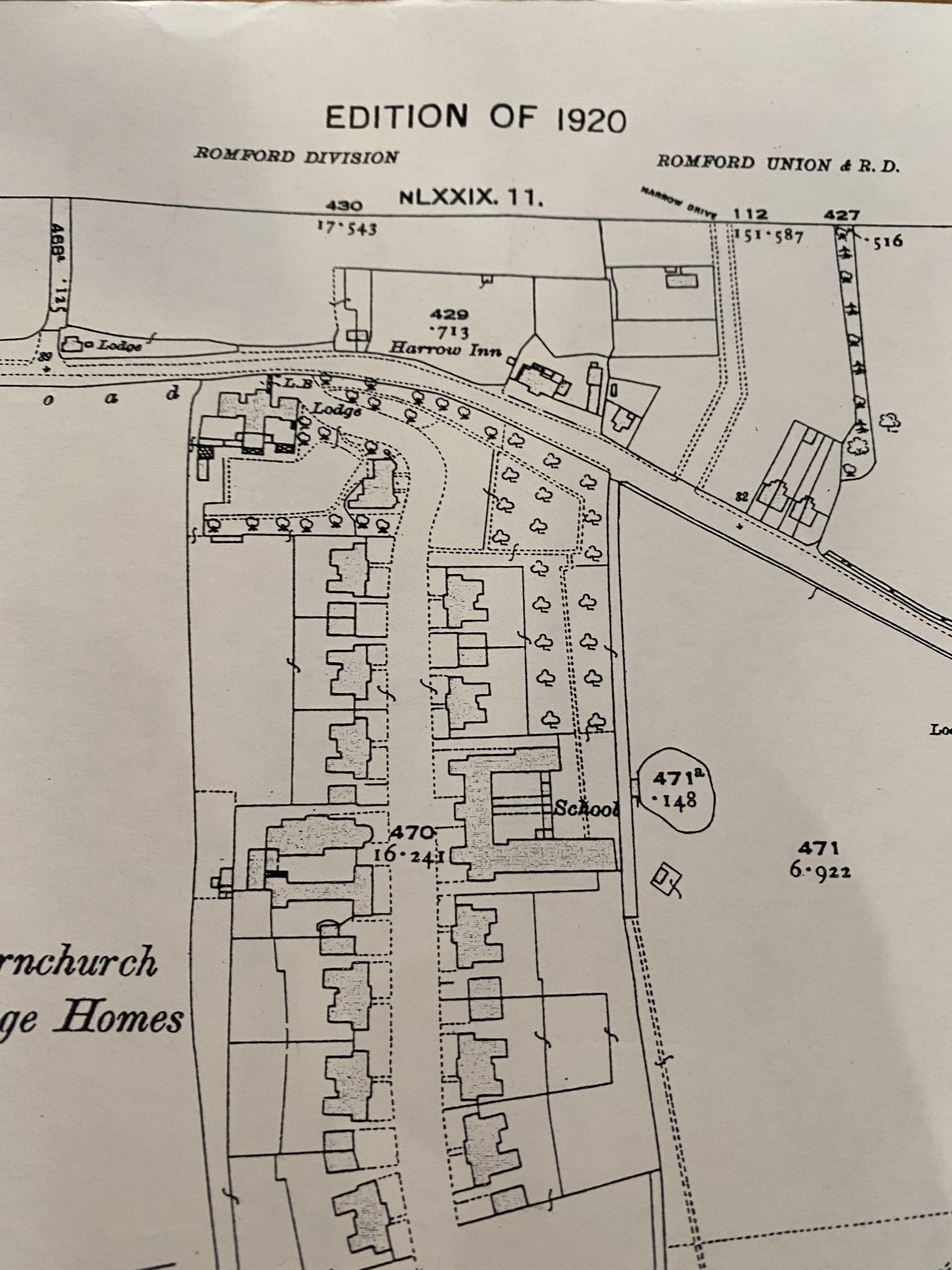 Superseeded Edition, Edition 1920 Essex, Hornchurch ordnance map - Image 3 of 6