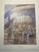 Marathon Runners By Fletcher Sibthorpe Limited Edition Print