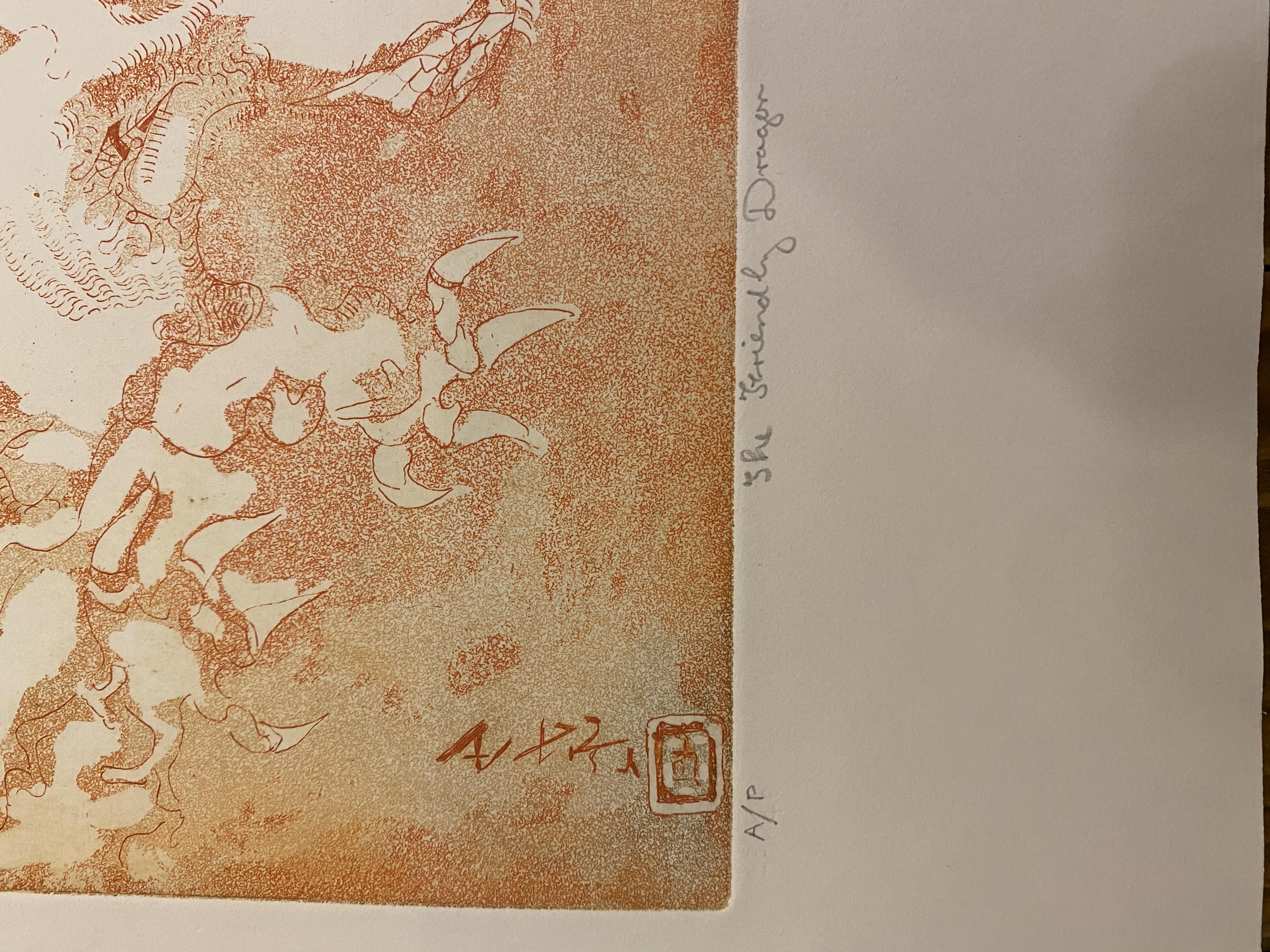 Samuel Robin Spark, The Friendly Dragon Artist Proof Print 91/92 - Image 2 of 2