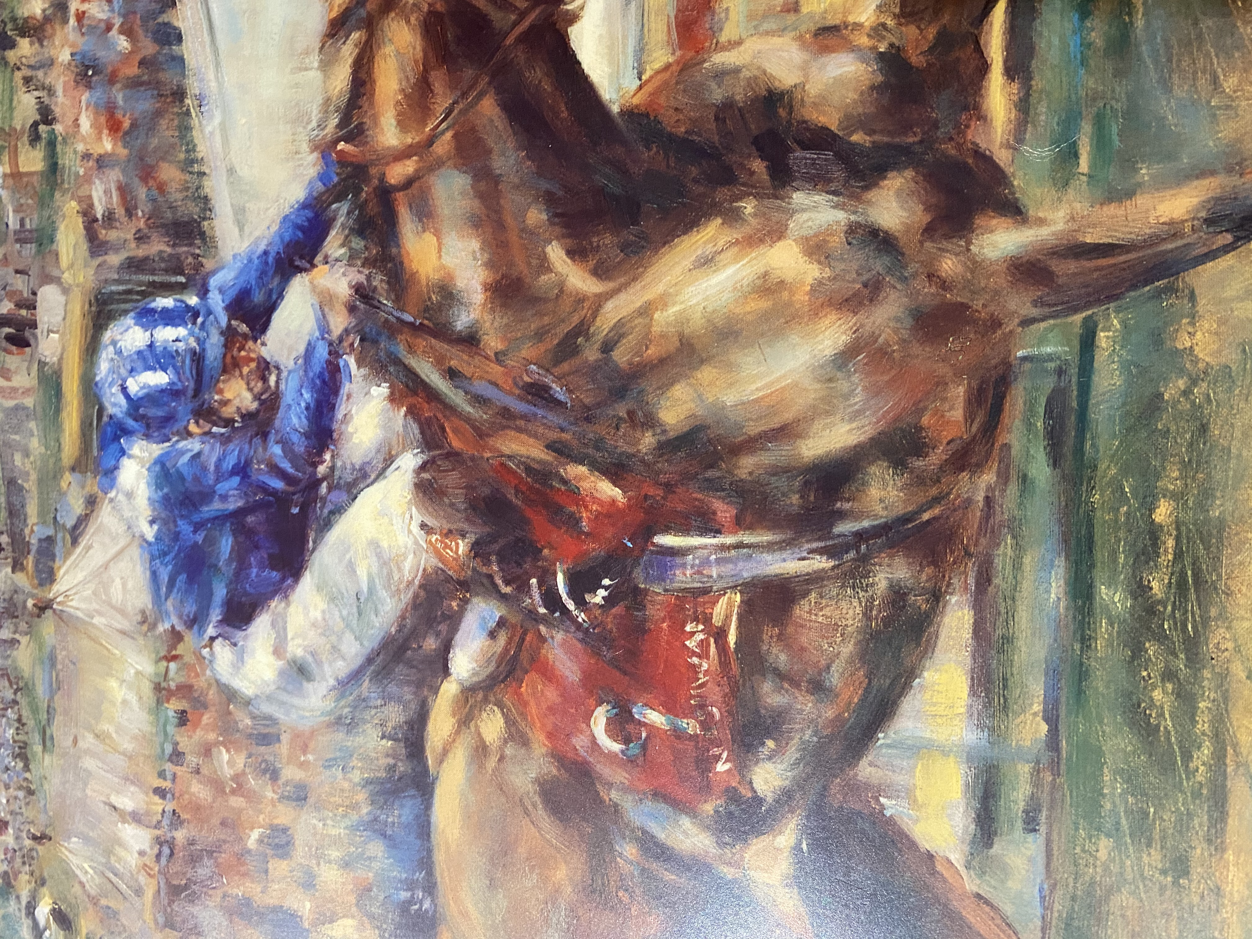 Claire Eva burton & Willie Carson Signed Limited Edition Print of Nashwan - Image 10 of 11