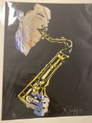 Del Southon Scott Hamilton Limited Edition Silk Screen 79. WITH ADDED LETTER FROM DEL