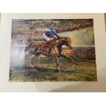 Claire Eva burton & Willie Carson Signed Limited Edition Print of Nashwan