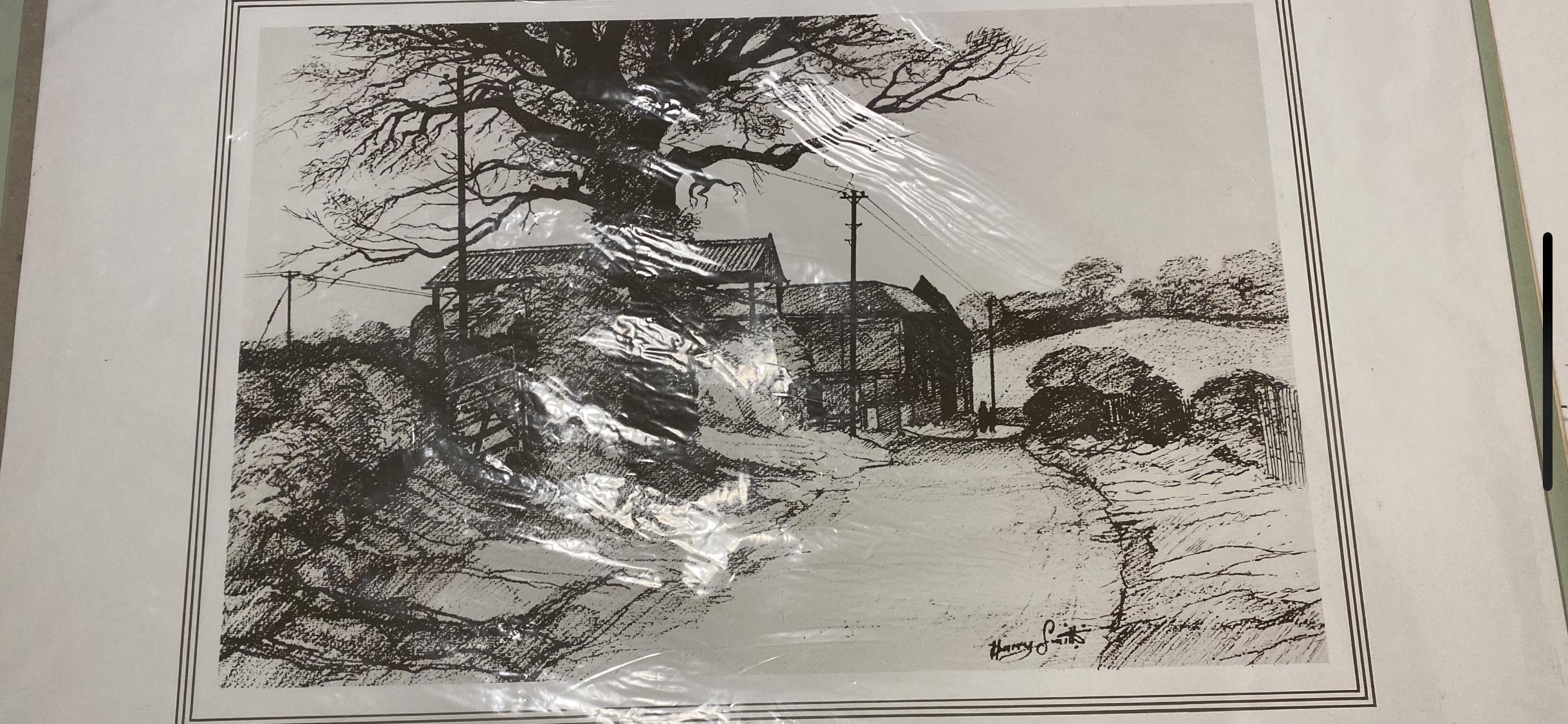 Harry Smith signed print 1974 Farm Near Bartholomew