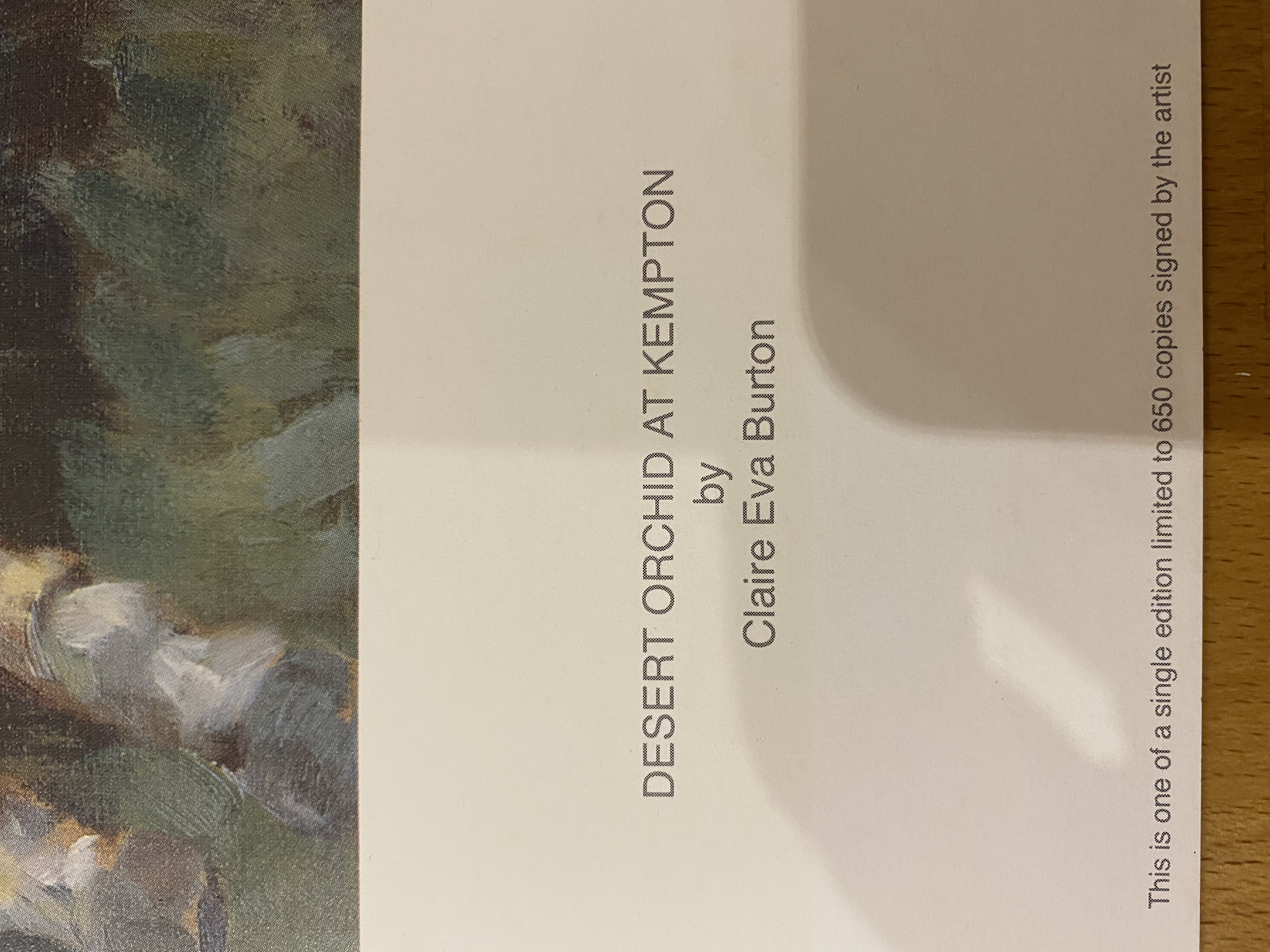 Claire Eva Burton & Richard Dunwoody Signed Limited Edition Print 'Desert Orchid - Image 2 of 7