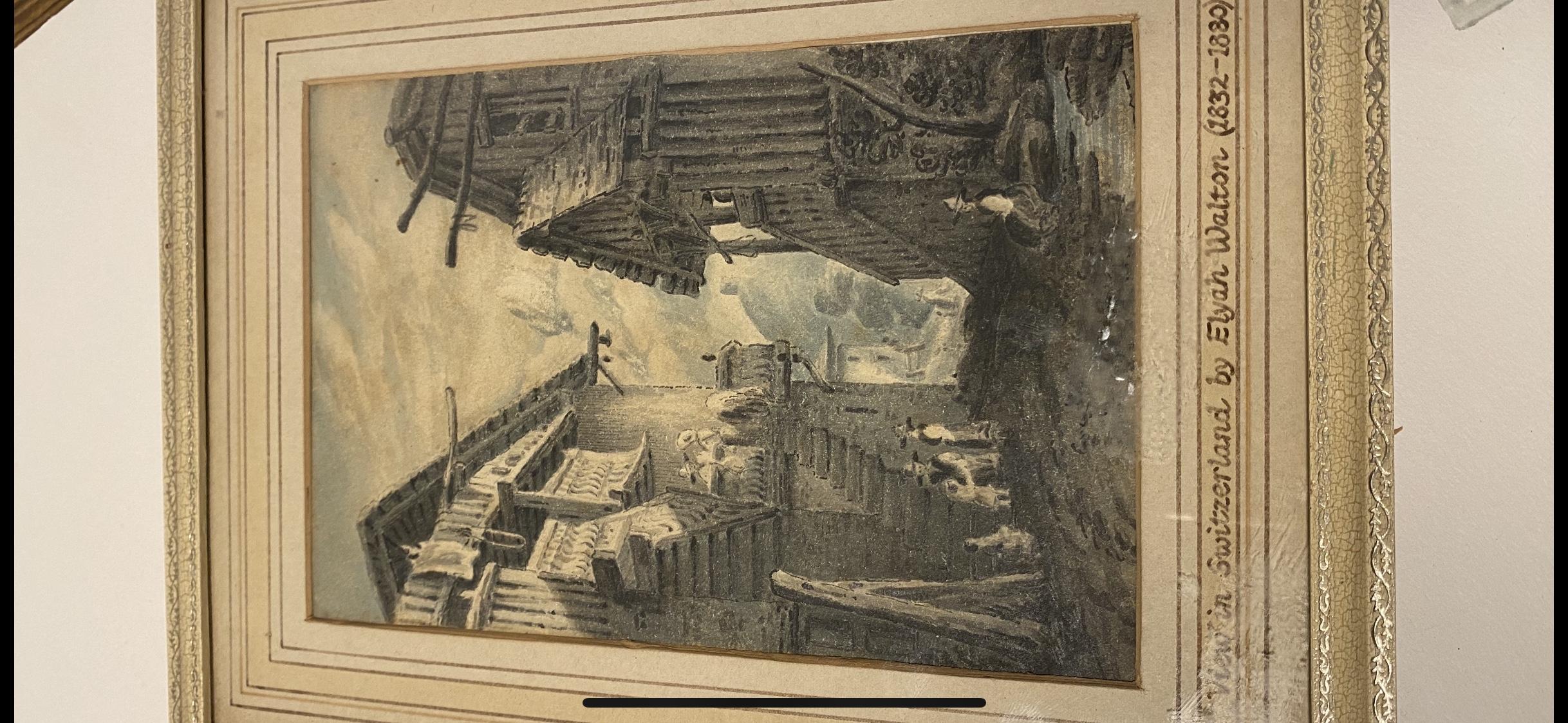 VIEW IN SWITZERLAND BY ELYAH WALTON 1832-1880 - Image 4 of 4
