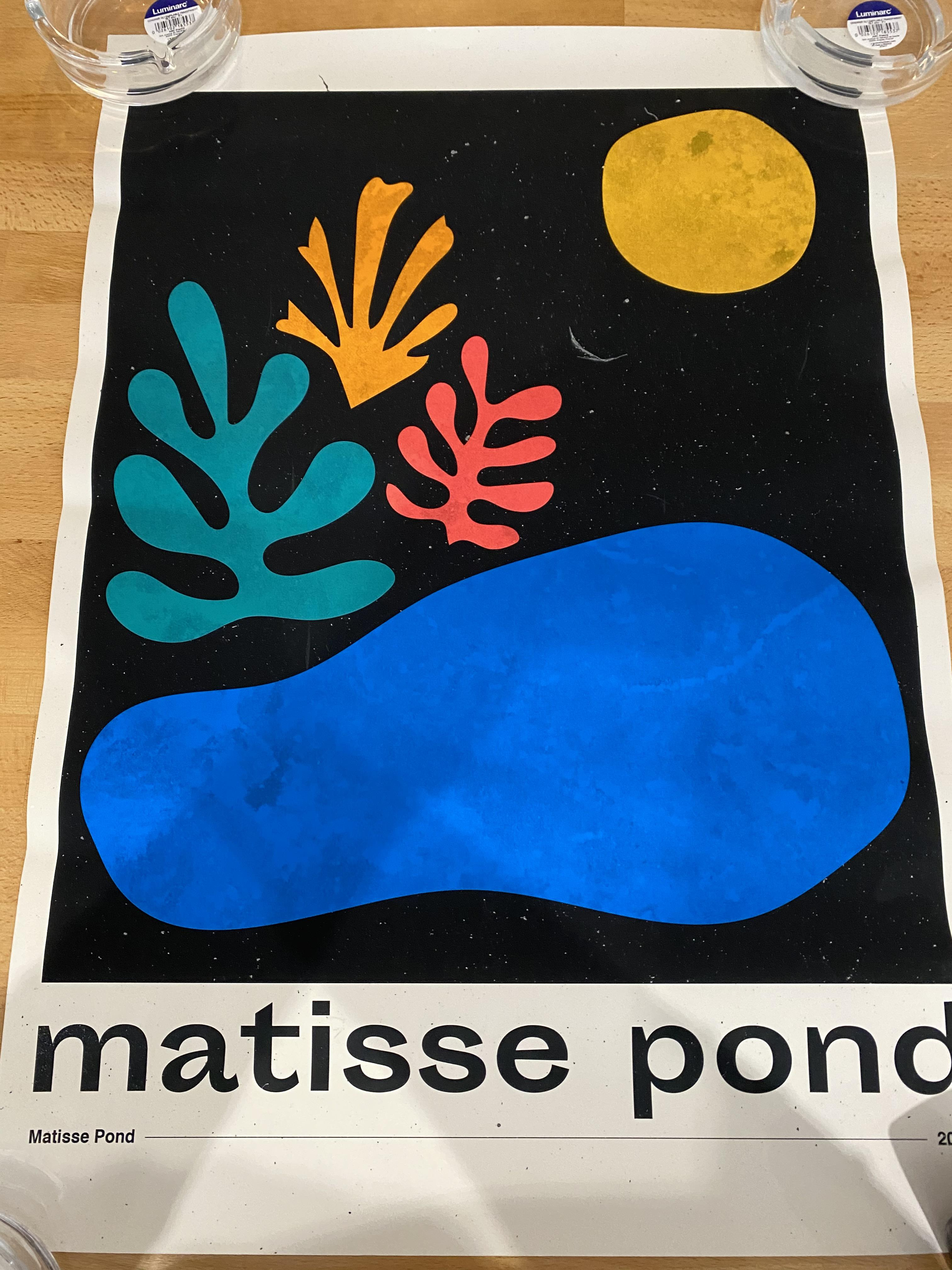 Jeremy Rieger Matisse Pond Signed Limited edition Print