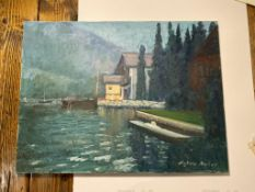 Sylvia Molloy original On Canvas House On The Lake