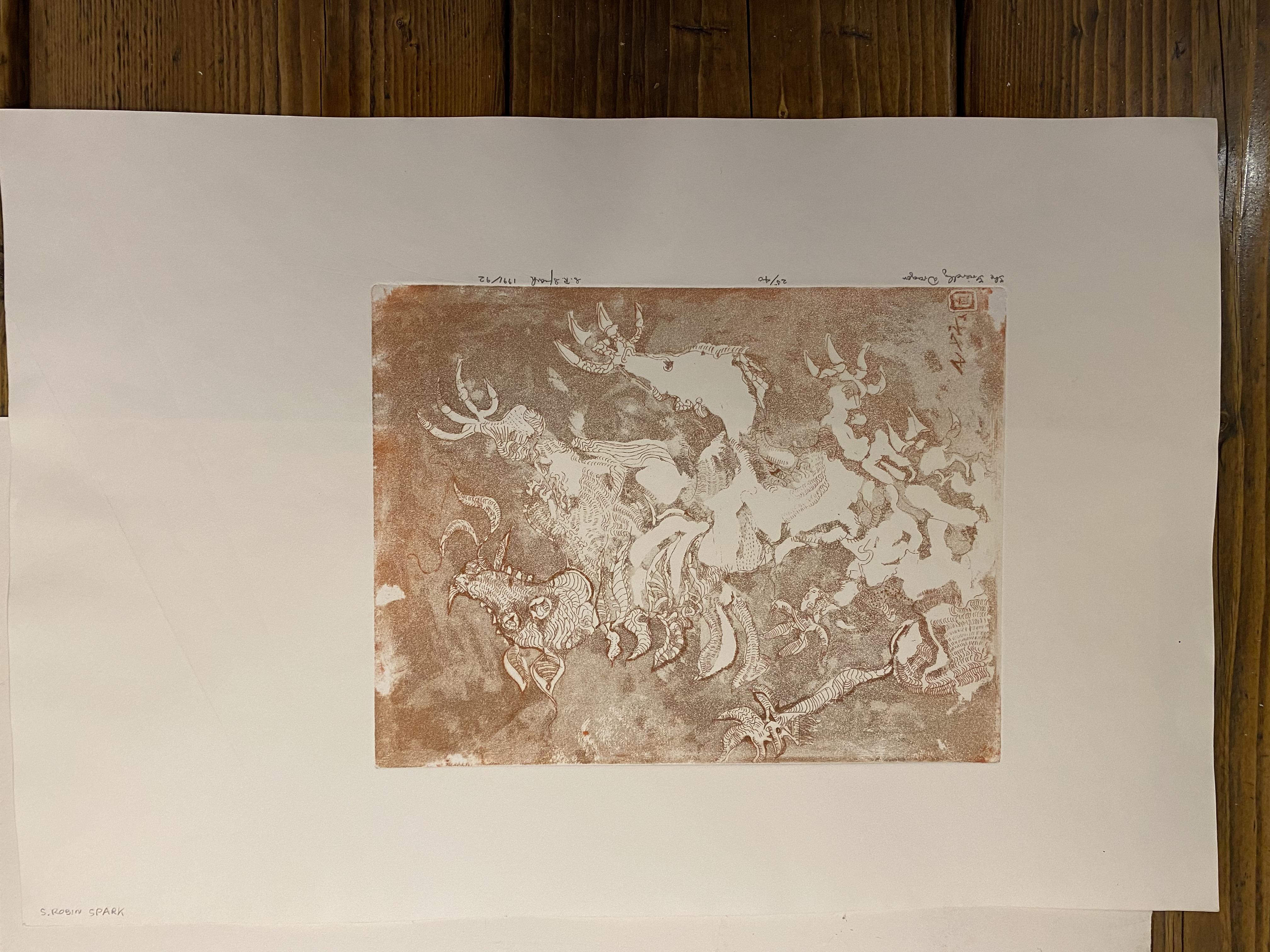 Samuel Robin Spark, The Friendly Dragon Limited Edition Print 91/92